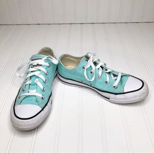 Converse All Star Chuck Taylor Teal Sneakers.
